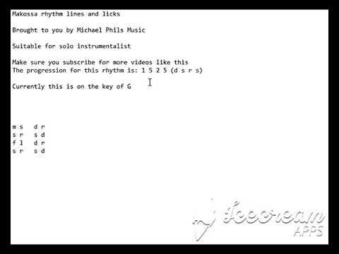 Makossa/ Soukous rhythm in solfa 4