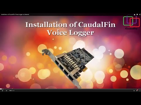 Installation of CaudalFin Voice Logger on Asterisk