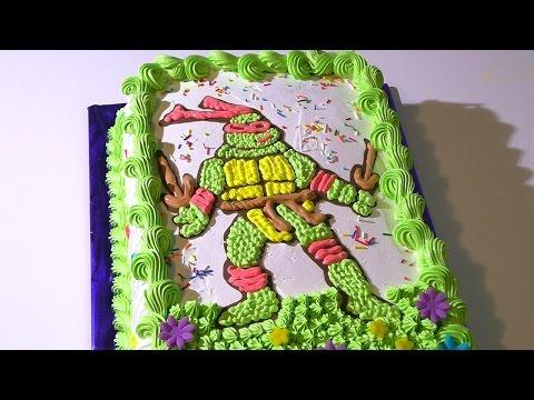 Торт ЧЕРЕПАШКА НИНДЗЯ Кремовые торты для детей  Cake Ninja Turtles