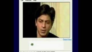 Shahrukh Khan on Yahoo Webcam