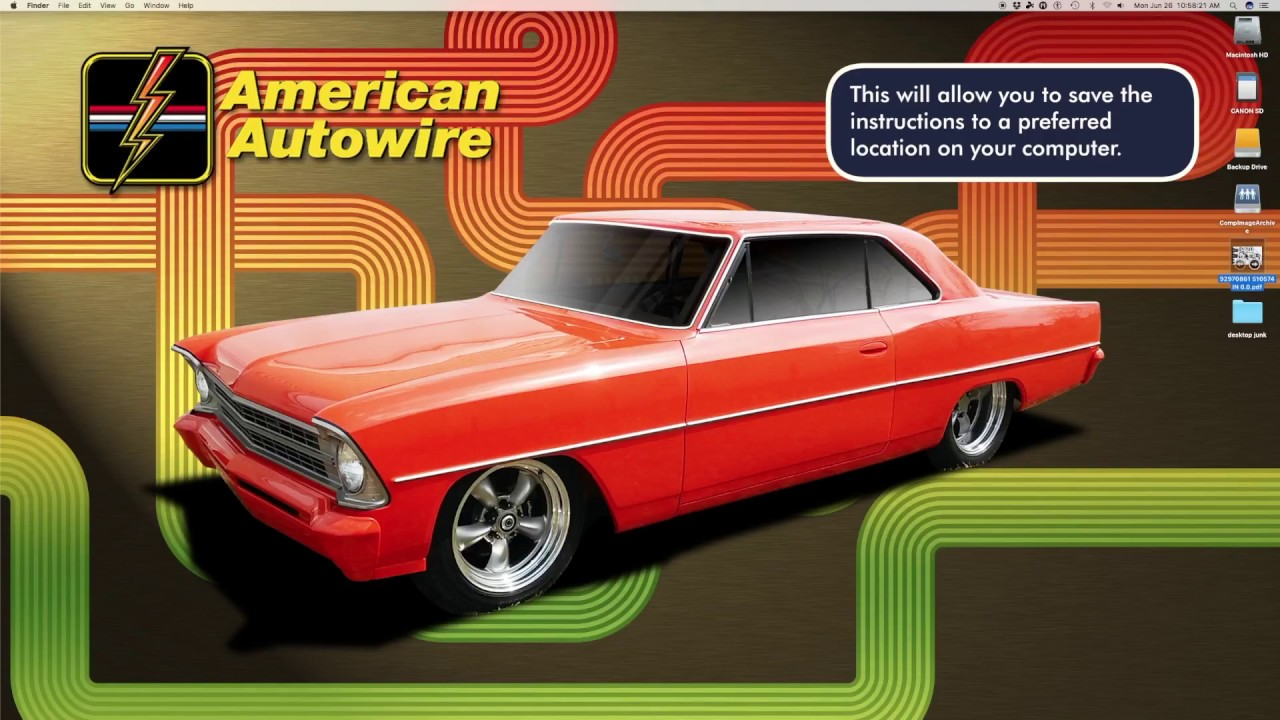 How To Find American Autowire Instructions Online Wiringharness Wiring Harness