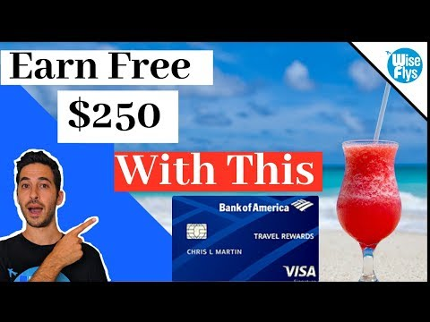 Bank Of America Travel Rewards Visa Card Review | Free $250