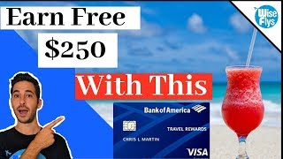 Bank of America Travel Rewards Visa Card Review | Free $250 Video