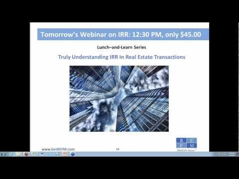 REFM Webinar Replay - How Real Estate Developers Price The D