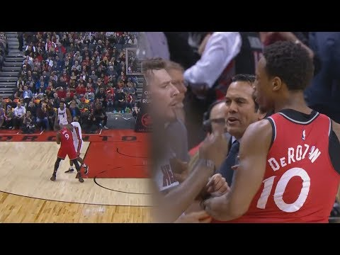 Demar Derozan and Serge Ibaka Both Throwing Punches in Fight Vs Miami Heat! Players EJECTED!