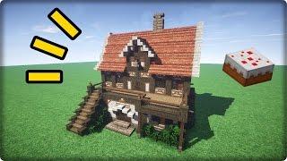 【マインクラフト】家を建築してみる-その4-【洋風なお菓子屋の作り方】