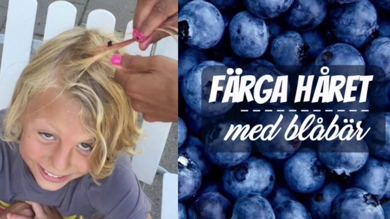 färga håret med blåbär