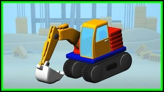 Trucks! Build & Play 3d Excavator Demo. Kids Puzzles & Mobile Apps: Дети головоломки приложения