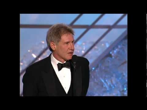 Harrison Ford Receives Cecil B. DeMille Award - Golden Globes 2002