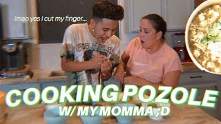I TRIED COOKING POZOLE WITH MY MOMMA...