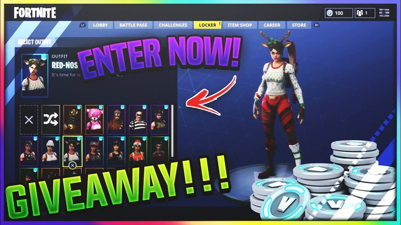 GIVEAWAY OVER!! Fortnite Account For FREE! + FREE VBUCKS ...