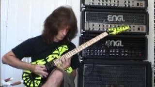Chris Impellitteri Shredding guitar solo during a studio session !
