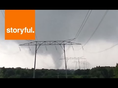 French Couple's Close Encounter With Tornado (Storyful, Weather)