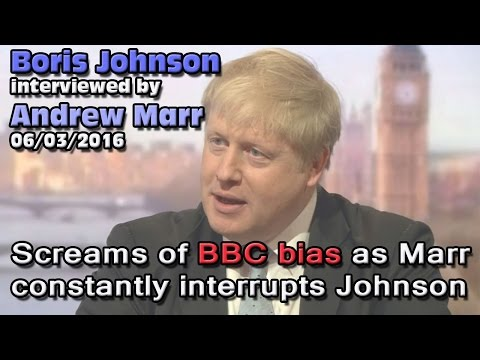 Brexit: Marr's shocking Boris Johnson interview, many claim as further evidence of UK media bias