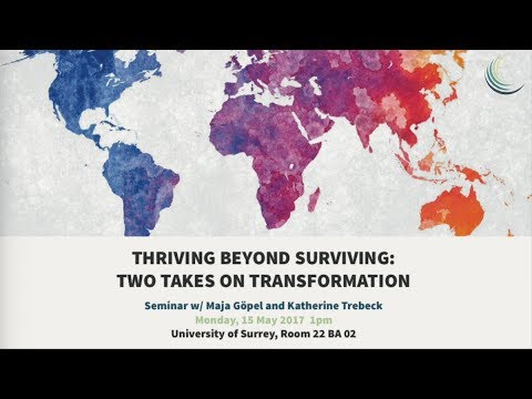 Thriving beyond surviving | CUSP seminar w Katherine Trebeck and Maja Göpel