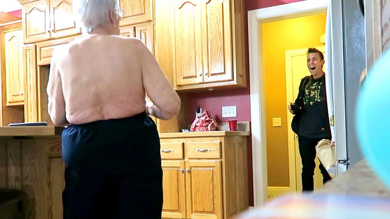 topless grandma