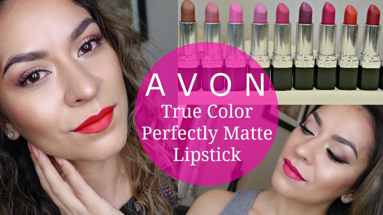 New Avon True Color Perfectly Matte Lipsticks Lip Swatches