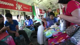 Yangon / Myanmar City circular train 2015 ( part 2 life on train )