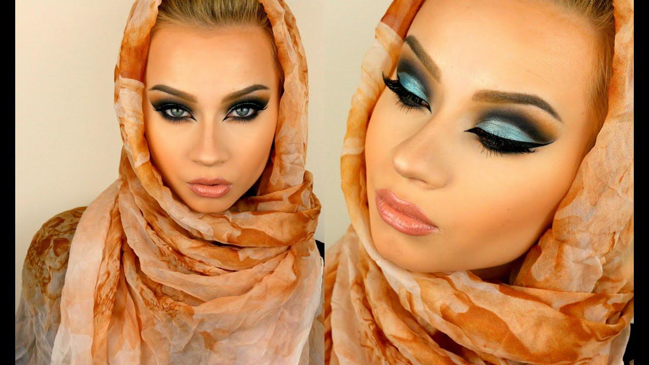 Dramatic Arabic Style Eye Makeup Tutorial Youtube