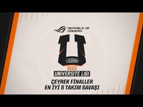 Üniversite Ligi - Çeyrek Final En iyi 5 Takım Savaşı