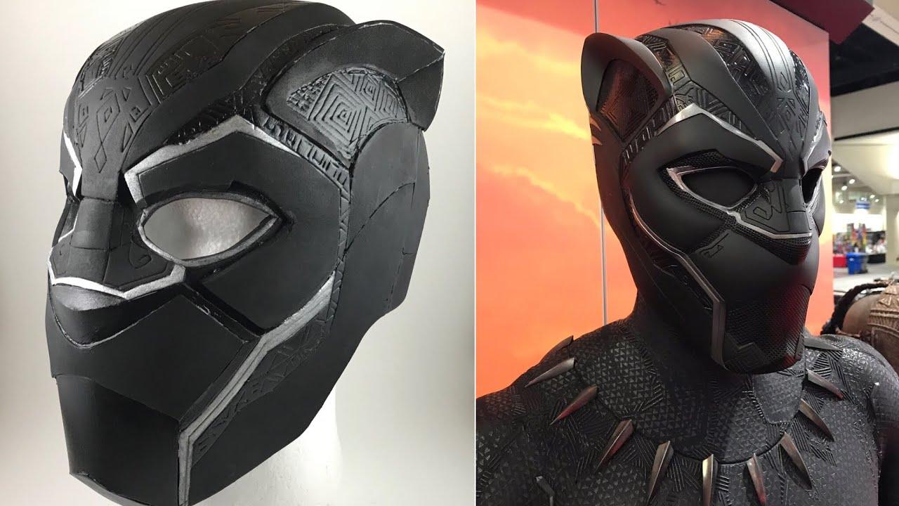 black panther 2018 helmet timelapse build youtube