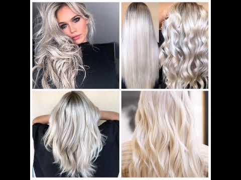 طريقة صبغ الشعر الاشقر البلاتيني الأبيض اللؤلؤي بكل تفاصيله Platinum Pearl Blond Hair Youtube