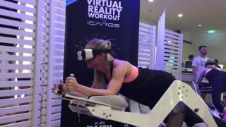 Kim-Sarah testet ICAROS Virtual Reality-Workout