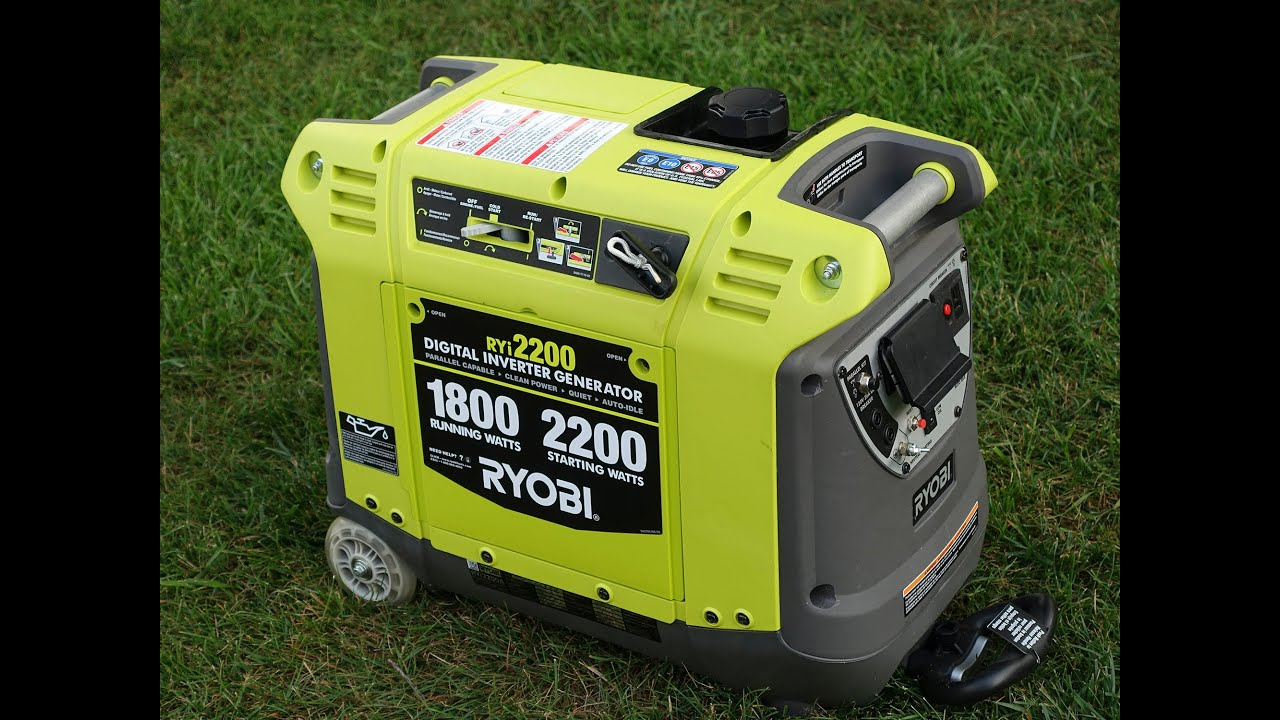 Ryi2200 Ryobi Inverter Generator VS Honda EU3000is