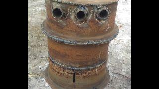 Печь из старых дисков Камаз с высоким КПД