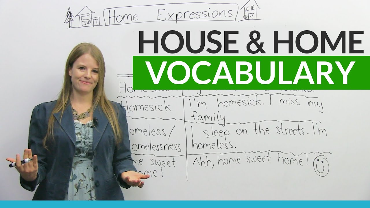 english vocabulary amp expressions with house and home youtube