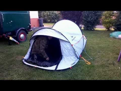 Test Quechua Freshblack Wurfzelt 2 Seconds Easy Tip Youtube