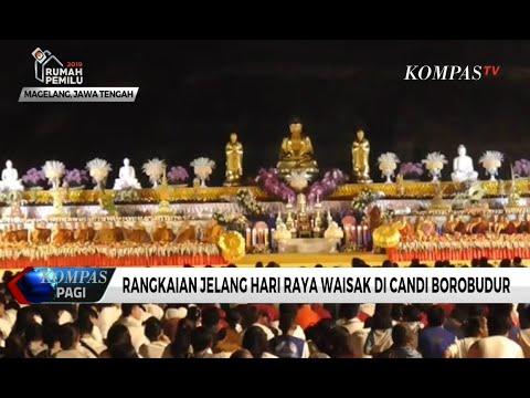 Ribuan Umat Budha Rayakan Puncak Waisak di Candi Borobudur