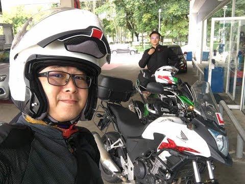 Kawasaki Z800 & Honda CB500X ride from Singapore to KL