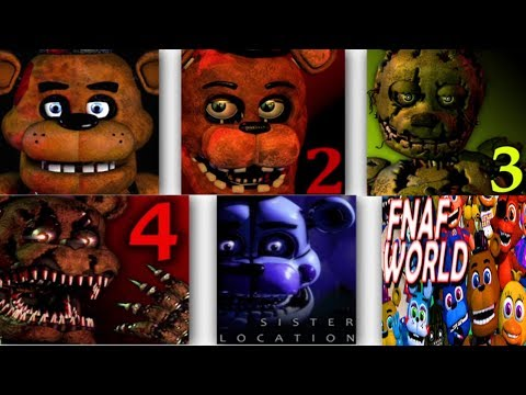 Five Nights at Freddy's ALL TRAILERS | FNAF 1, 2, 3, 4, 5 & 6 Trailer | IULITM