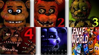 Five Nights at Freddy s ALL TRAILERS FNAF 1, 2, 3, 4, 5 6 Trailer IULITM