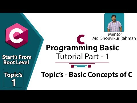 Basic C Programming A-Z Bangla Tutorial Part_1 By ICT CARE! ICT Tutorial Lesson Five Topics_1!