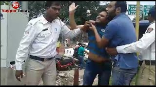 Man Slpas Traffic Police constable at RBI Square | Nagpur Today