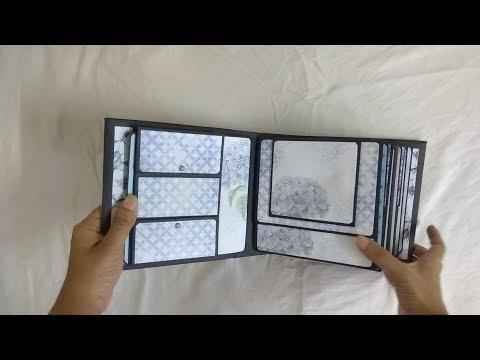 Beautiful Scrapbook for Birthday   Handmade Scrapbook Ideas   Birthday Mini Album
