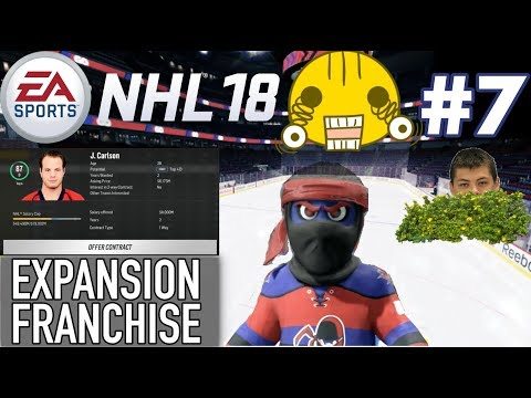 "NHL 18 Expansion Franchise #7 ""Crazy Offseason!"""