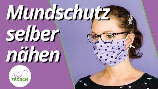 Atemschutzmaske Mundschutz selber nähen: 2 Varianten mit und ohne Schnittmuster