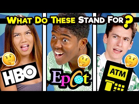 10 Acronyms Teens Today Don't Know (AOL, FAQ, SUV)