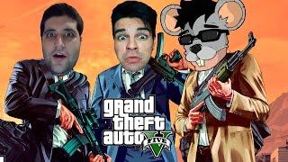 GTA V - Festa no Apê e  Youtubers BANDIDOS, com Davy Jones, Rato Borrachudo e Cross