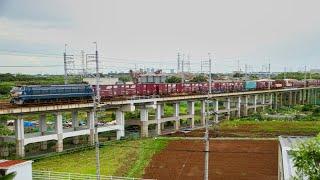 JR貨物 EF66 27号機 武蔵野線貨物列車74レ
