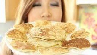 100% Natural Banana Pancakes   Gluten Free, Flourless, Low Calorie  FOOD BITES 720p