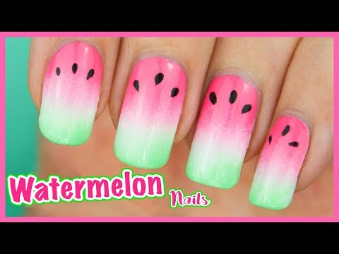 Ombre WATERMELON Nails! 🍉 Fruity Gradient Nail Art Tutorial for SUMMER ☀️