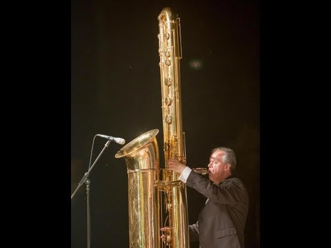 Attilio Berni plays the giant J'Elle Stainer sub-contrabass