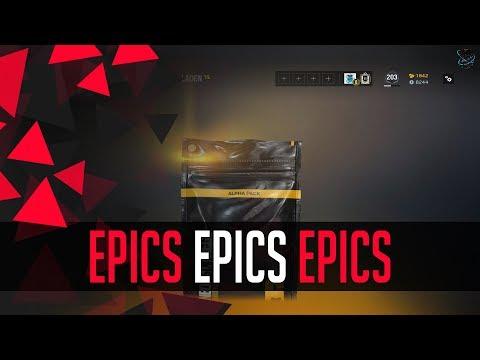 Legendary & Epics over Epics ! 36 Packs | Alpha Pack Opening | Rainbow Six: Siege | Bolek