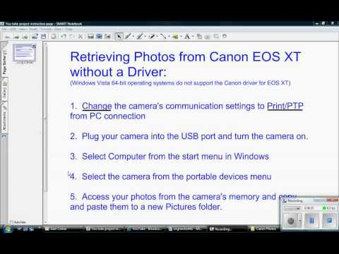 Retrieving photos from Canon Rebel XT without driver - YouTube