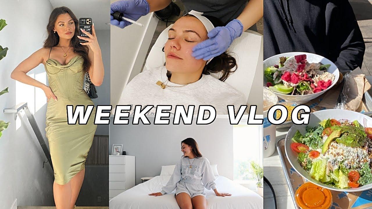 VLOG: self care day, grwm engagement dinner & more!