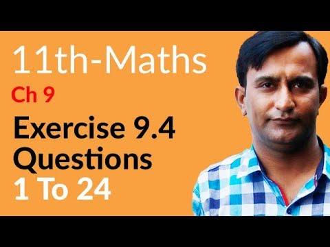 Math Ex 9.4 Qu no 1 to 24 - Chapter 9 Fundamentals of Trigonometry - FSC Part 1 11th Class